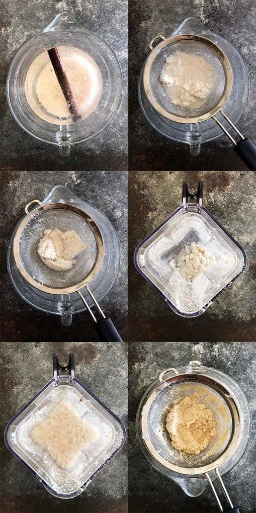 Step by Step Photos to Making Horchata