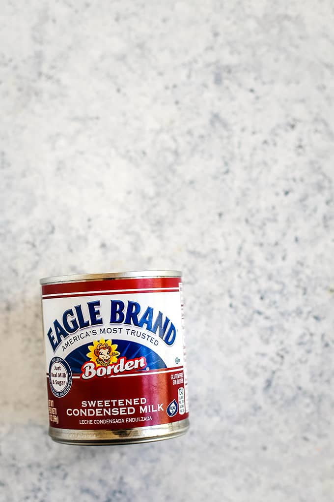 A can of Eagle Brand sweetened condensed milk.