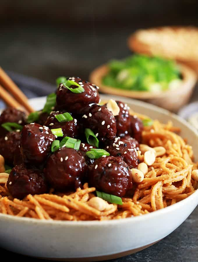 Peanut Butter Pasta and Jelly Meatballs