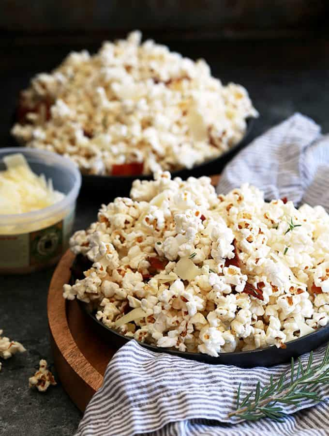 Rosemary Parmesan Bacon Popcorn