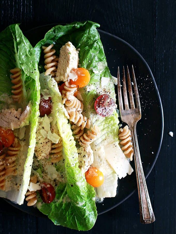 Chicken Caesar Pasta Salad | Melanie Makes