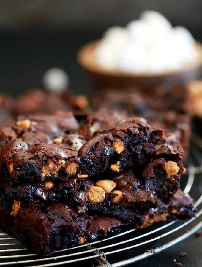 Butterscotch Marshmallow Brownies | Melanie Makes