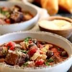 Slow Cooker Mediterranean Beef Stew | Melanie Makes