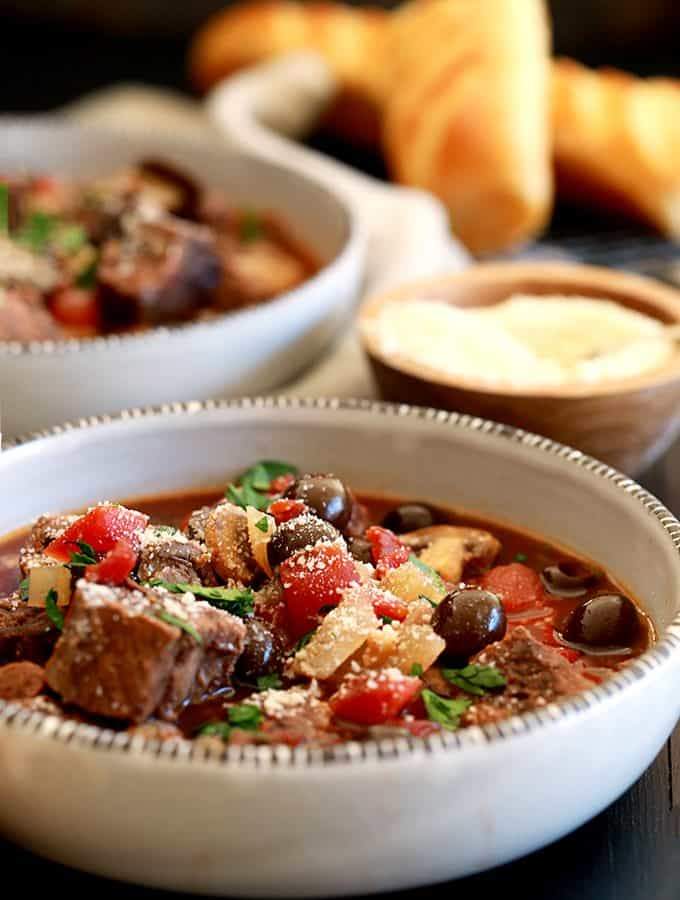 Slow Cooker Mediterranean Beef Stew | Melanie Makes