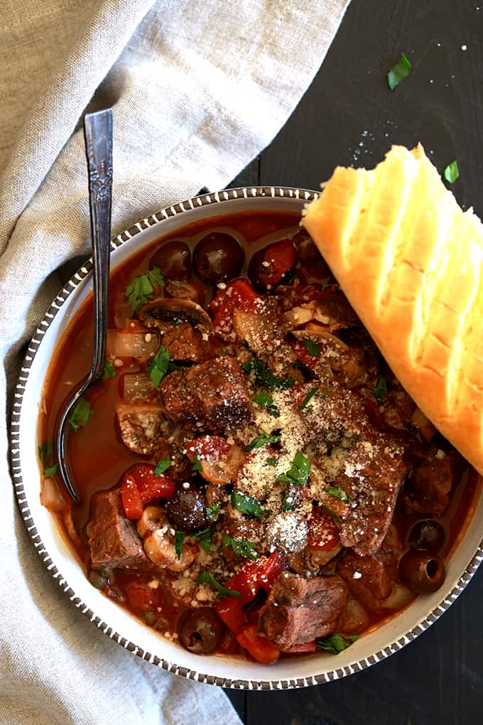 Slow Cooker Mediterranean Beef Stew Melanie Makes