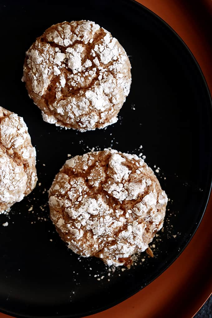 Caramel Pumpkin Spice Crinkle Cookies | Melanie Makes