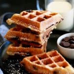 Chocolate Chip Eggnog Waffles | Melanie Makes