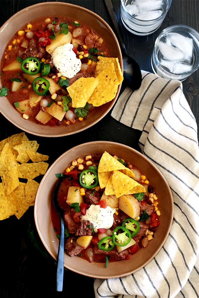 Slow Cooker Mexican Beef Stew | Melanie Makes