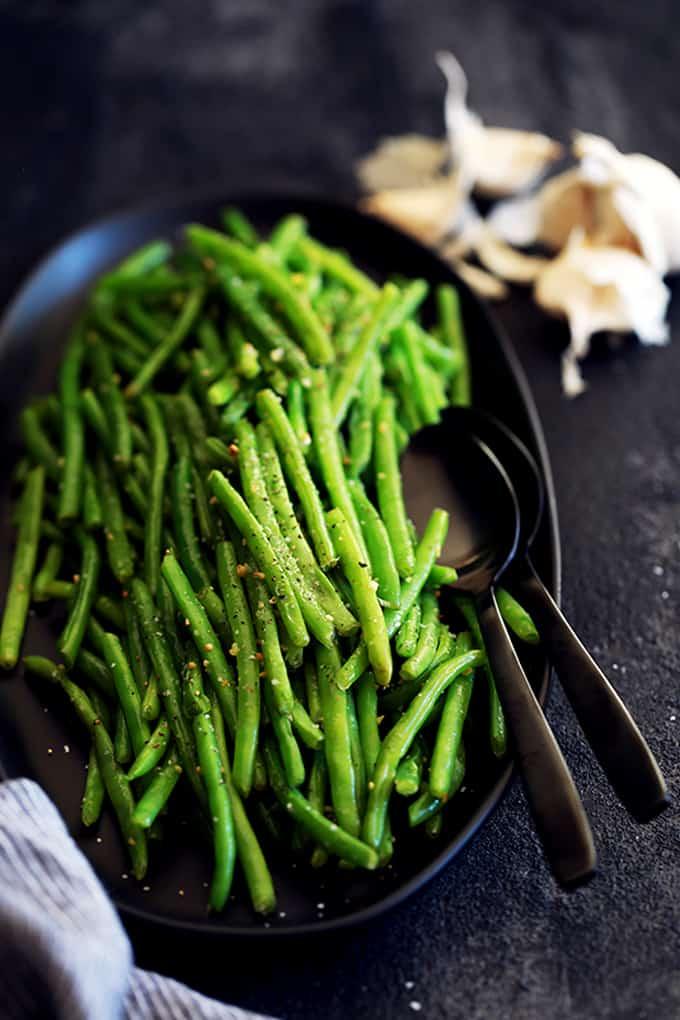 Garlic Butter Green Beans | Melanie Makes