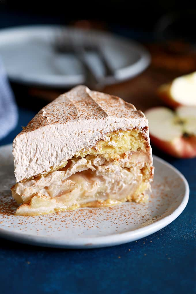 Apple Piecaken, you ask?  Friends, this is dessert deliciousness at it's finest.  It's an entire apple pie baked inside a yellow cake.  AN ENTIRE PIE.  Its frosted with my Cinnamon Cool Whip Frosting to create a truly memorable dessert.