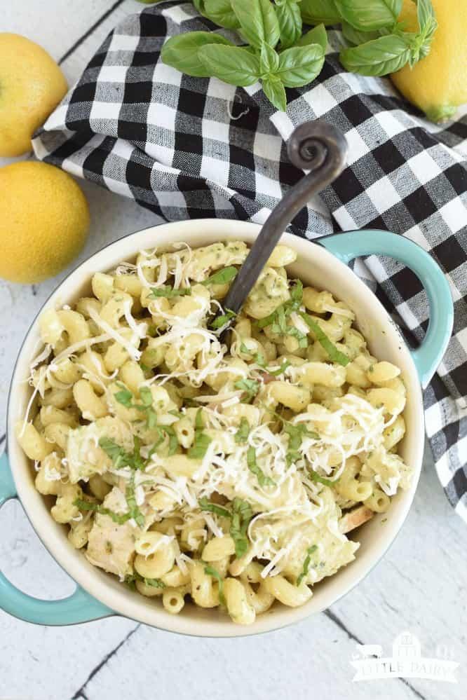 Lemon Pesto Pasta Salad