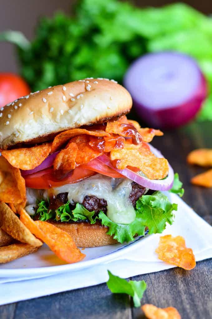 Triple BBQ Crunch Burger