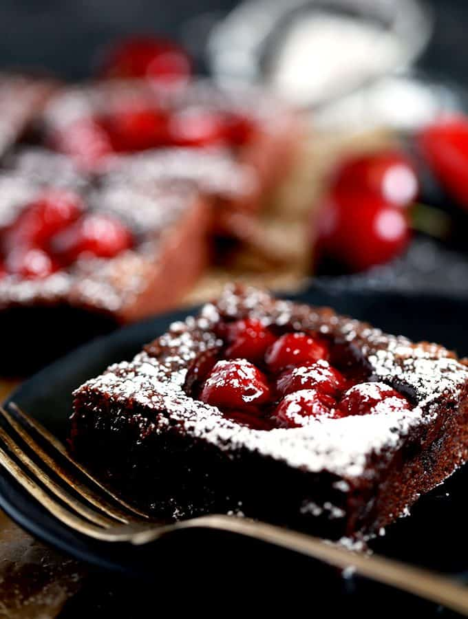 Fudgy Black Forest Bars | Melanie Makes