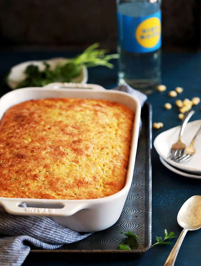 Southwest Green Chile Corn Casserole
