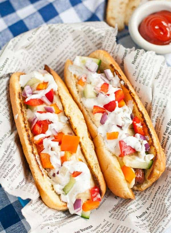 Greek Hot Dogs