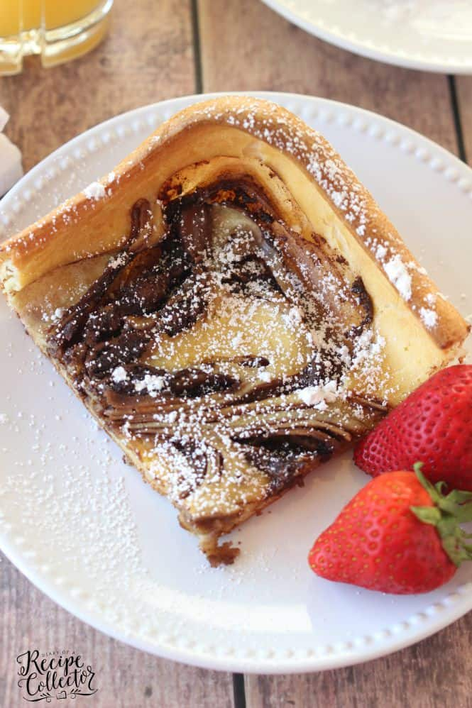 Nutella Swirl Puffy Pancake