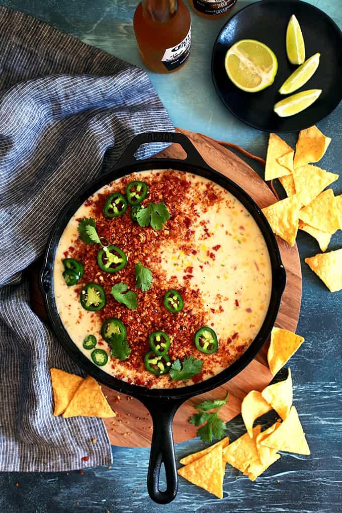 Sweet Corn Queso | Melanie Makes