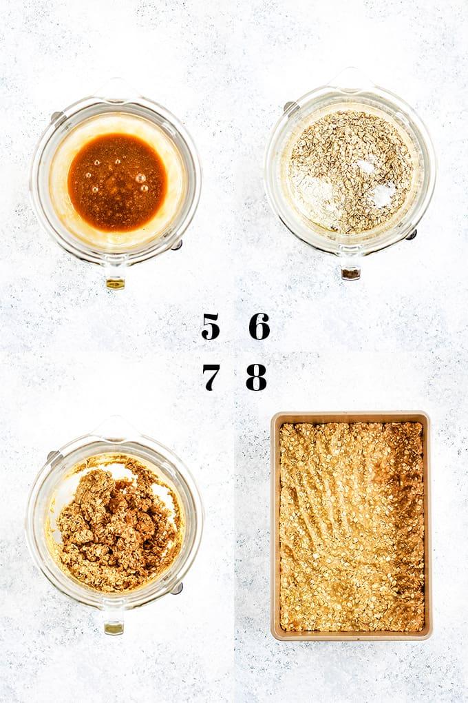 How to prepare Tootsie Roll Bars, steps 5-8.