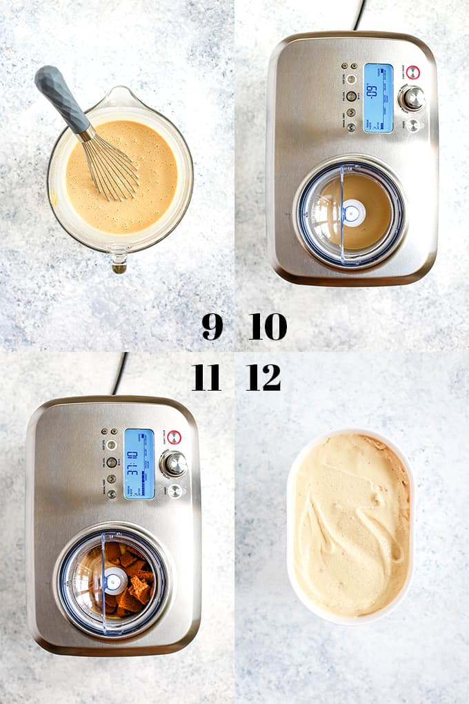 How to prepare Biscoff Cookie Butter Ice Cream, steps 9-12.