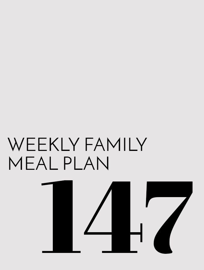 Weekly Family Meal Plan – Week 147