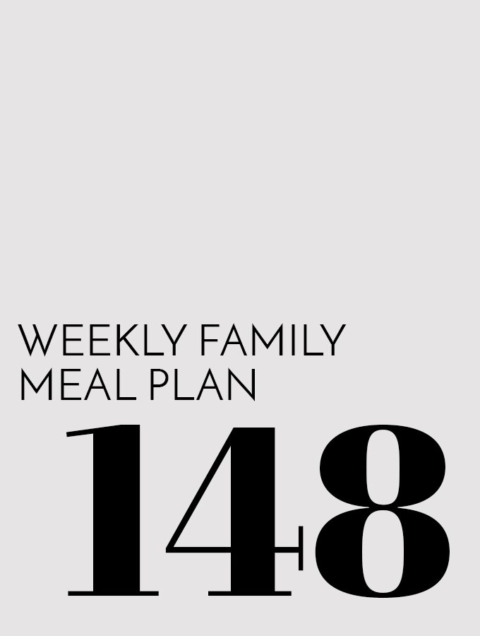 Weekly Family Meal Plan – Week 148