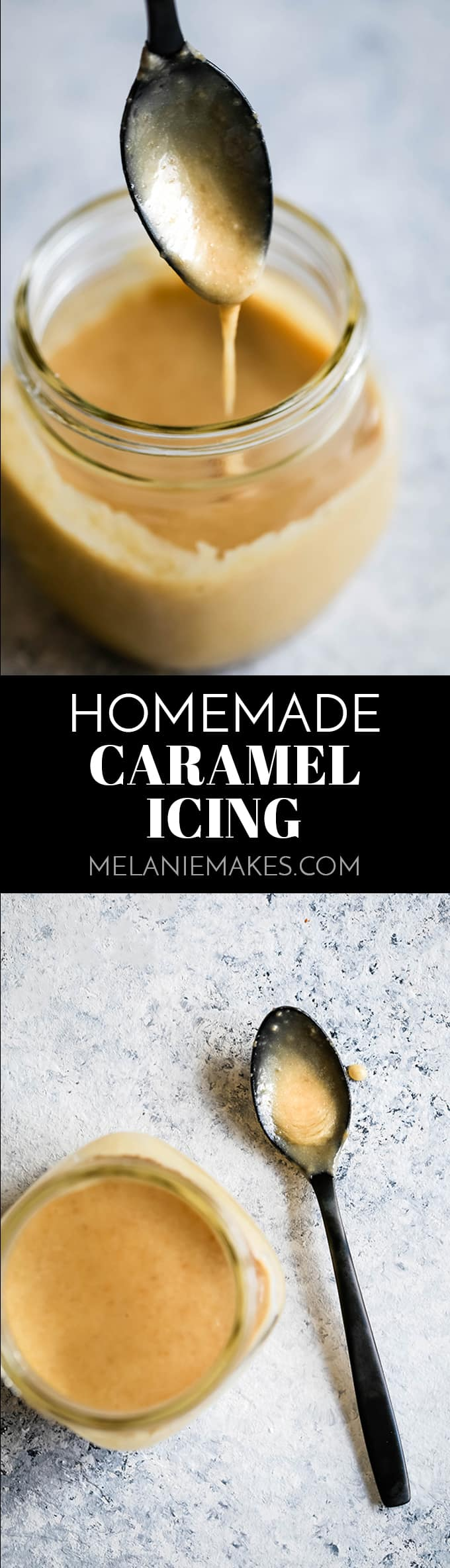 This Homemade Caramel Icing recipes takes just seven minutes to prepare and uses only five ingredients.  EASY.  If you can use a whisk, you'll be an icing expert for sure.