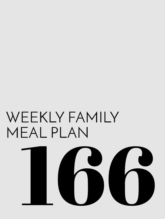 Weekly Family Meal Plan – Week 166