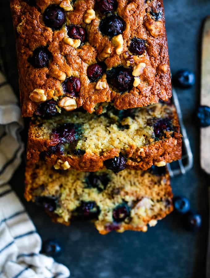 Blueberry Walnut Banana Bread